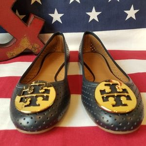 Tory Burch Made in Brazil Laser Cut Leather Flats